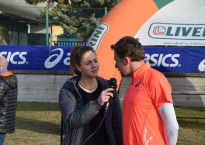 Stefano Baldini prova il percorso della Telesia Half Marathon .