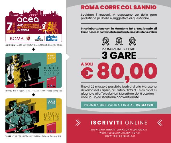 Promozione Maratona di Roma + Telesia Half Marathon e Trofeo Città di Telesia